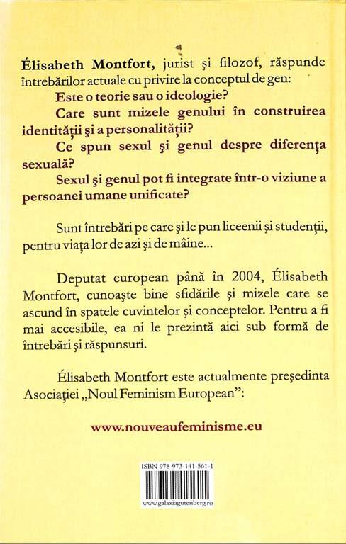 Elisabeth Montfort - Barbat si femeie: egalitate sau diferenta? Ce-mi spune trupul sexuat despre identitatea mea? -