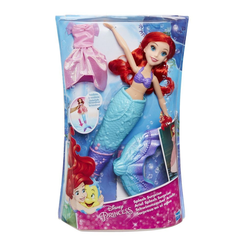 Disney - Disney Princess - Papusa Ariel, Surpriza transformarii -