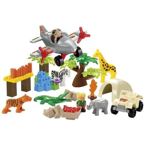 Ecoiffier - Set constructie Abrick - Aventuri in Safari, 59 piese -