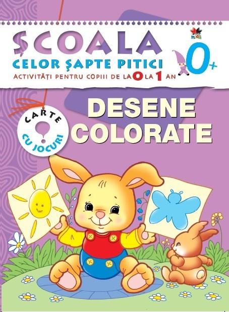 desene colorate activitati pentru copiii de la 0 la 1 an carte cu jocuri. Black Bedroom Furniture Sets. Home Design Ideas
