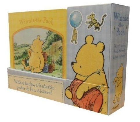 - Winnie the Pooh 6 Books Collection Set with Poster & Stickers -