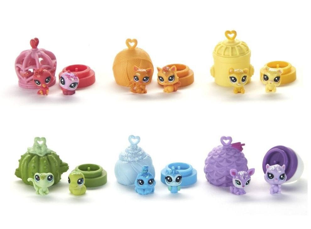 Littlest Pet Shop - Littlest Pet Shop, Set Rainbow - Inele cu animalute teensie -